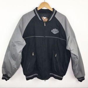 Harley-Davidson embroidered bomber jacket XL